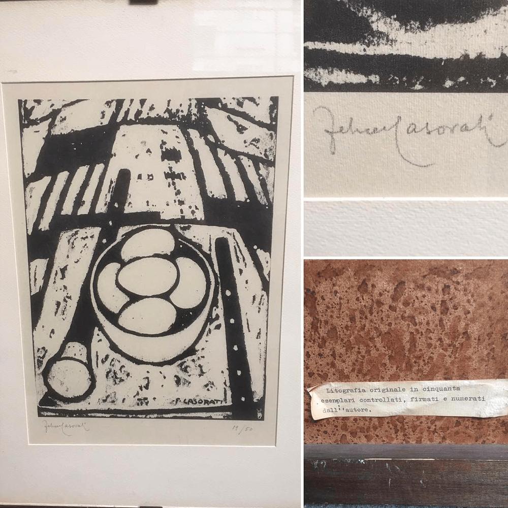 Vendita antiquariato – Oggetti d'arte: multipli di artista, litografia Casorati