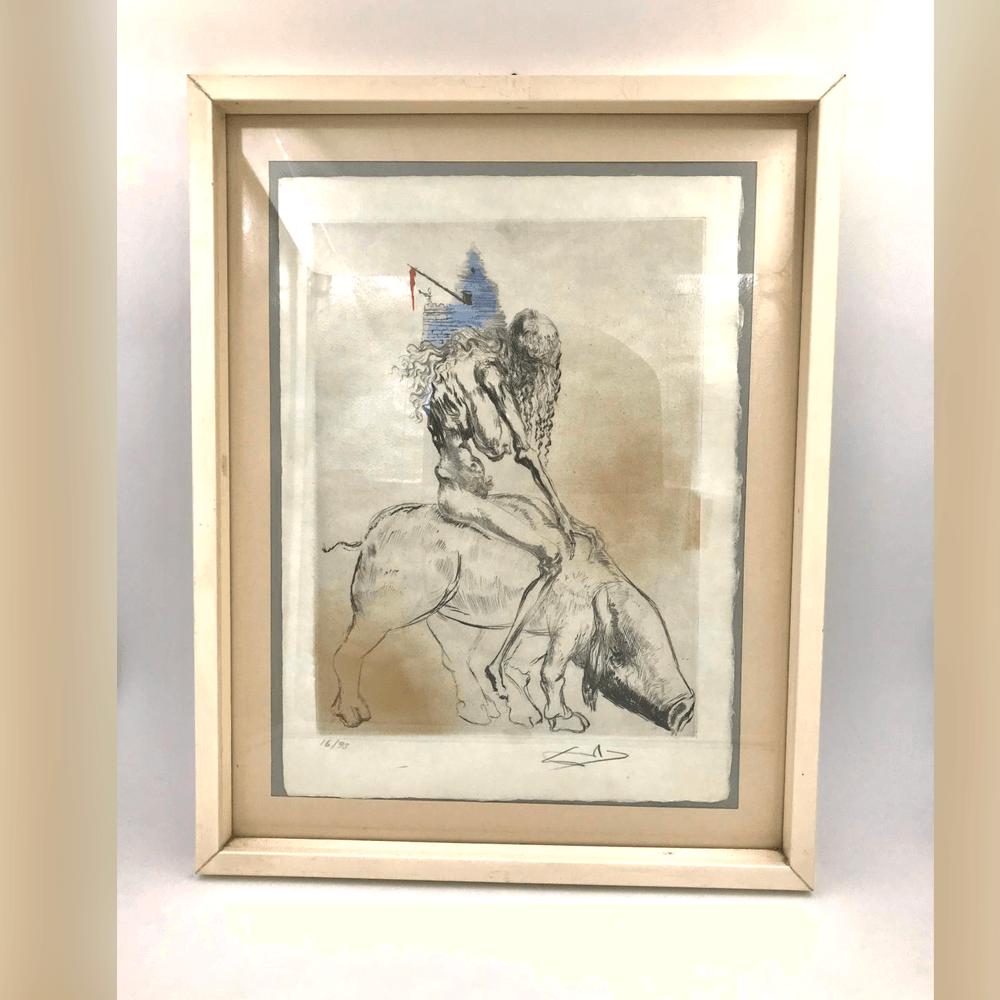 Vendita antiquariato – Oggetti d'arte: multipli di artista, litografia Dalì
