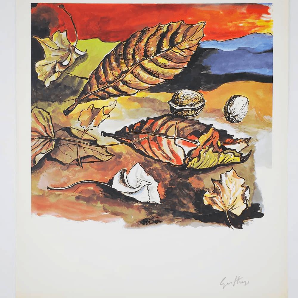 Vendita antiquariato – Oggetti d'arte: multipli di artista, litografia Guttuso