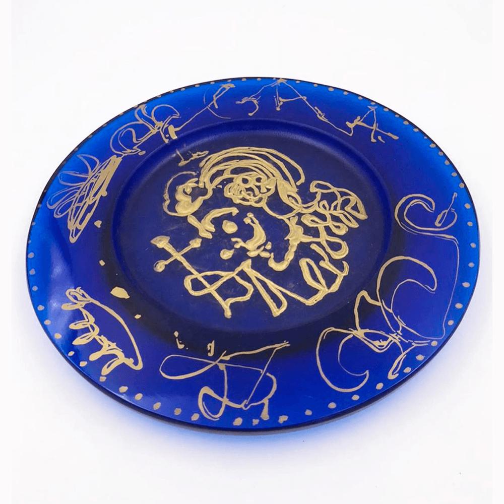 Vendita antiquariato – Oggetti d'arte: piatto decorato Dalì