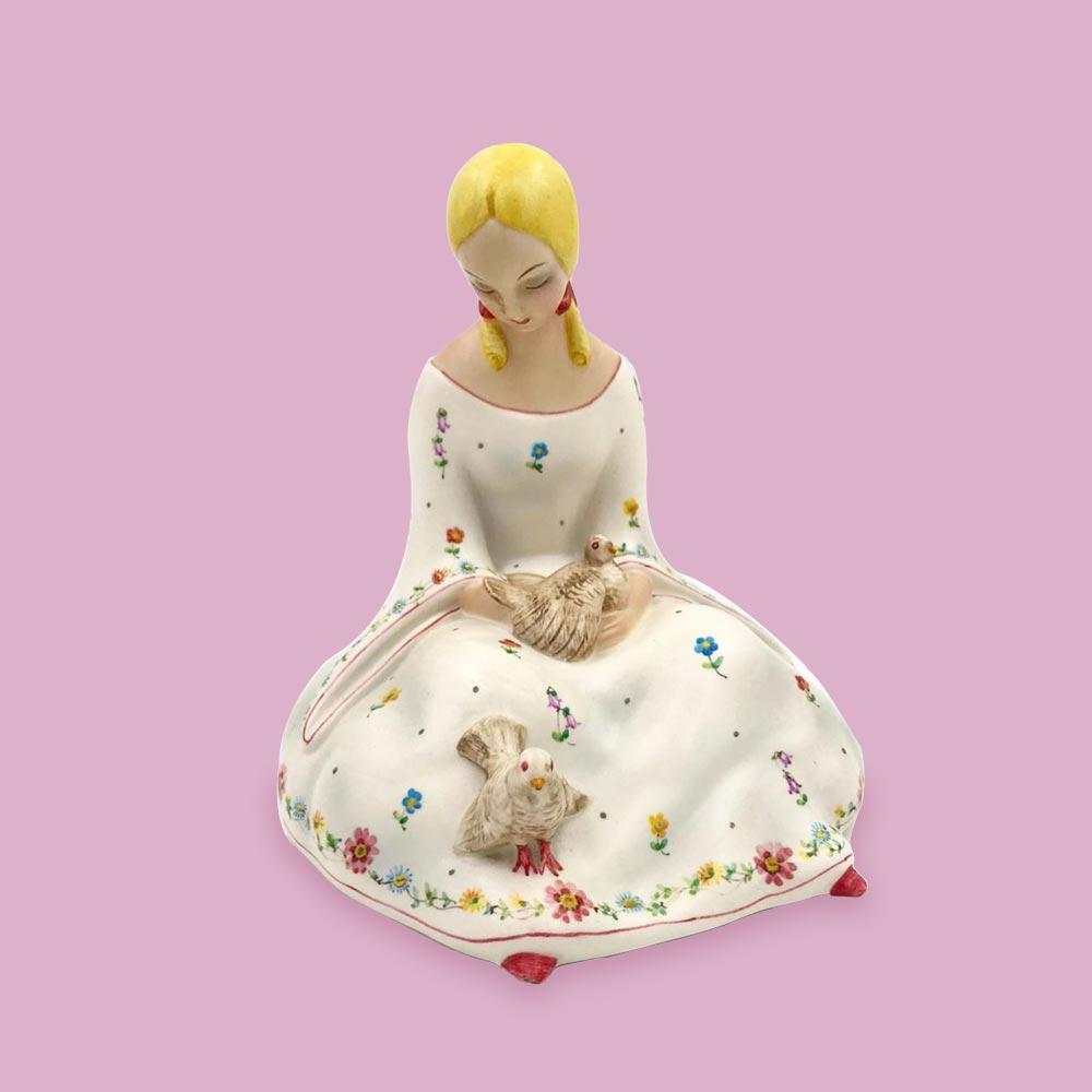 Figura di donna in ceramica Lenci