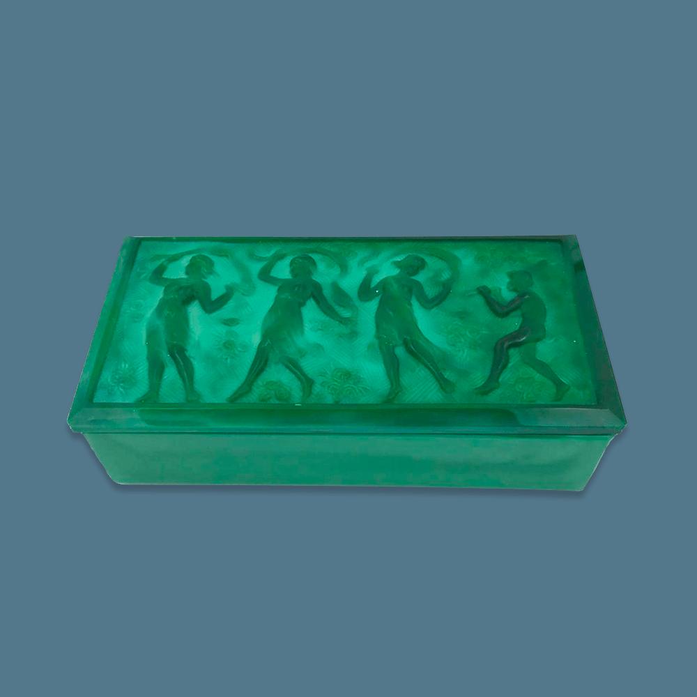 Vendita antiquariato - Complementi di arredo: scatola vetro stile liberty