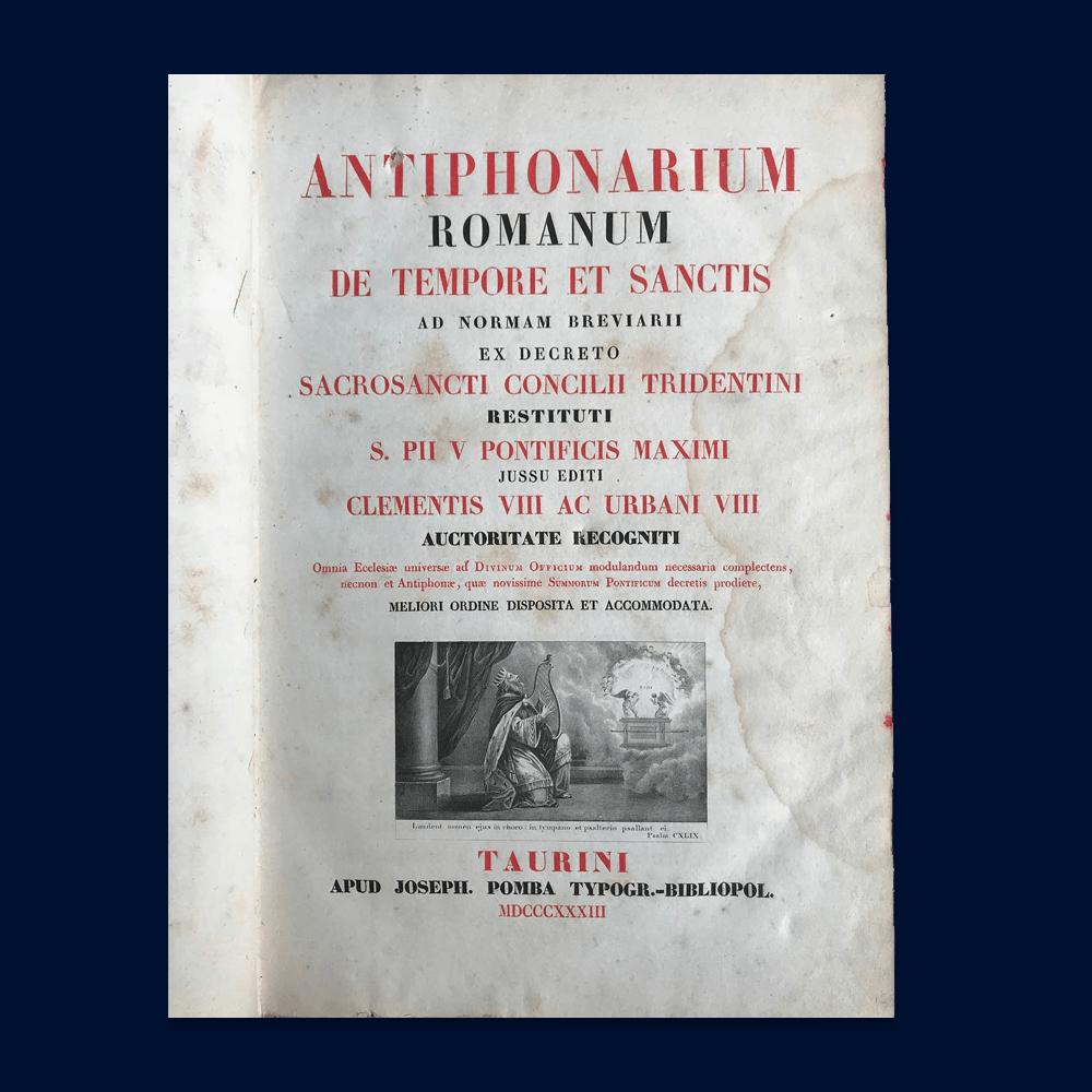 Vendita antiquariato – Arte: libri '800, antifonario